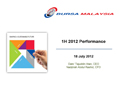 1H 2012 Financial Results