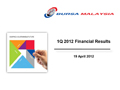 1Q 2012 Financial Results