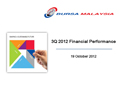 3Q 2012 Financial Results