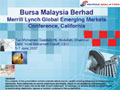 Merrill Lynch Global Emerging Markets <br />Conference, California